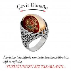 Çift Yönlü Erkek Yüzüğü