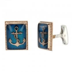Kol Düğmesi Denizci Armalı